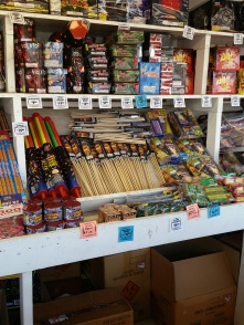 Fireworks shopping for the 4th -- it was a blast ;)